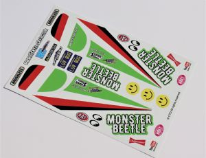 Green Original Kit Style Retro themed vinyl stickers to fit R/C Tamiya Monster Beetle